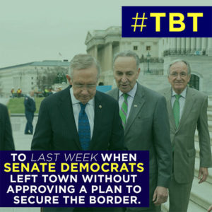 #TBT – House Acts on Border Crisis, Senate Heads Home