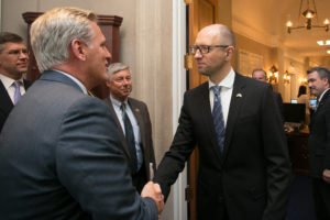 Leader McCarthy Meets With Ukrainian Prime Minister Arseniy Yatsenyuk