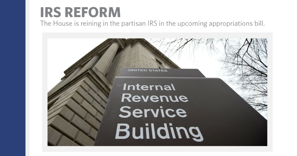 The House is Reining in the IRS