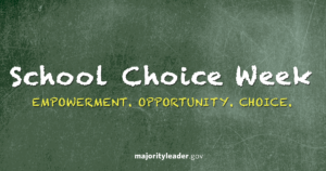 Republican Leaders Recognize National School Choice Week