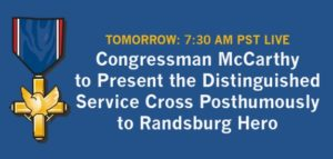 McCarthy to Present Distinguished Service Cross Posthumously to Sergeant First Class Robert Keiser