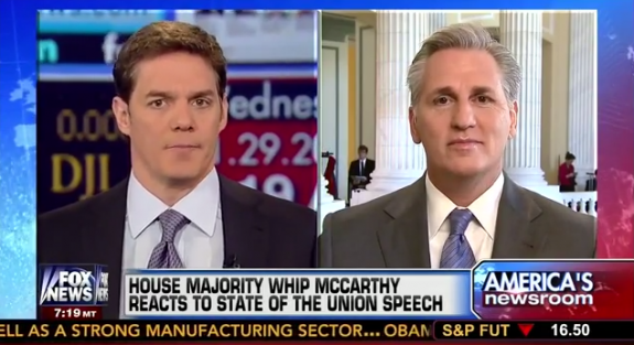 Whip McCarthy Joins Fox News to Discuss Where Congress and White House Can Work Together