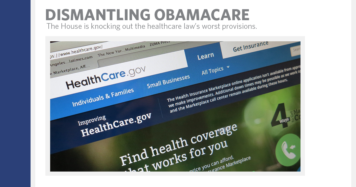 The House is Dismantling Obamacare - House Republican Leader