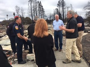 McCarthy Tours Fire Damaged Areas in Northern California