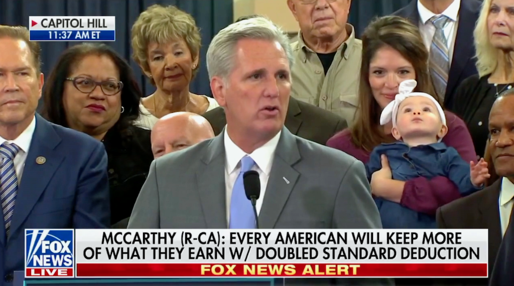 Kevin McCarthy Speaks on Tax Cuts and Jobs Act
