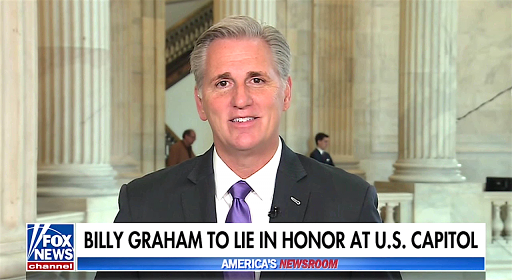 Billy Graham | Kevin McCarthy on Fox News