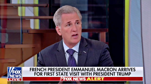 Leader McCarthy Talks Macron, Iran Deal, Pompeo on Fox News