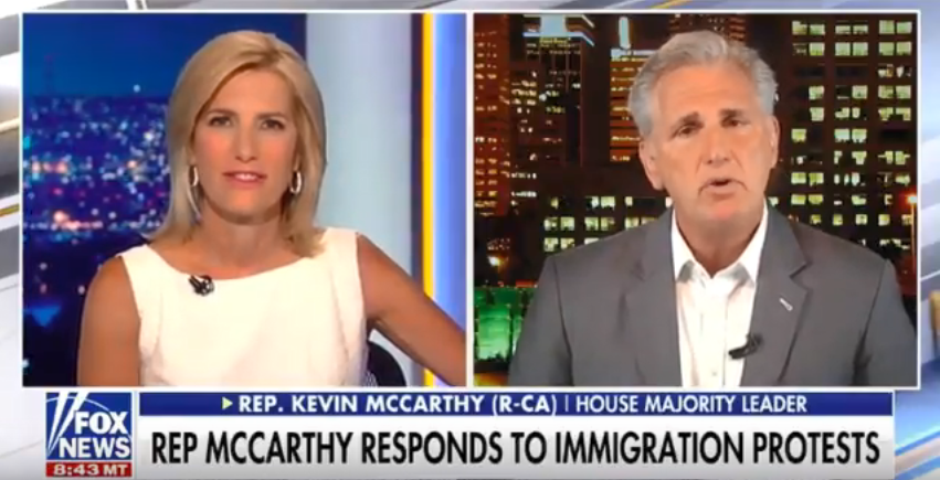 McCarthy Appears on The Ingraham Angle to Discuss Facing Off With Left-Wing Immigration Activists