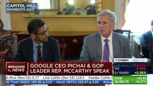 McCarthy Statement on House Judiciary Committee Hearing with Google CEO