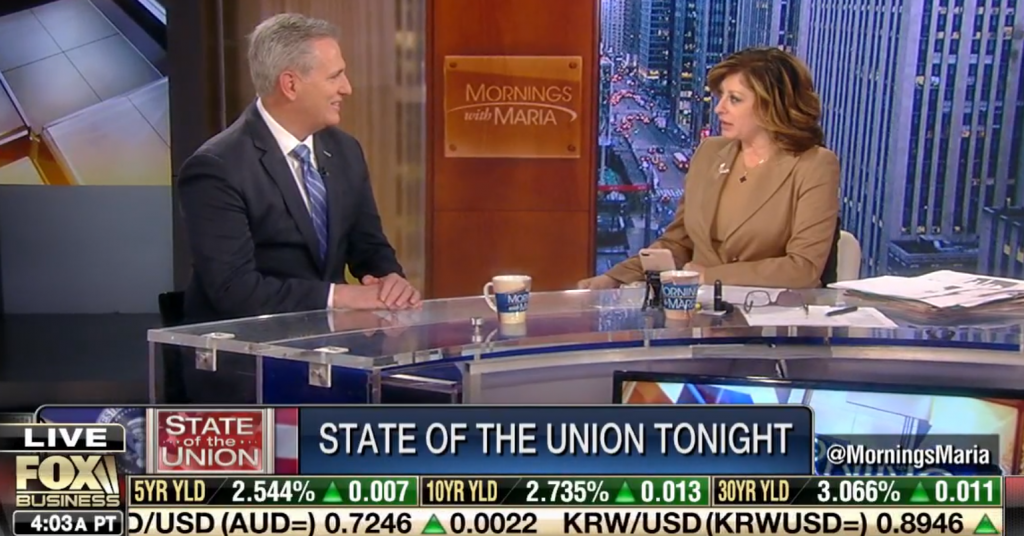 Leader McCarthy Discusses the Call For Unity on Fox Business