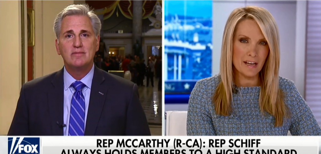 Leader McCarthy on Fox News with Dana Perino.