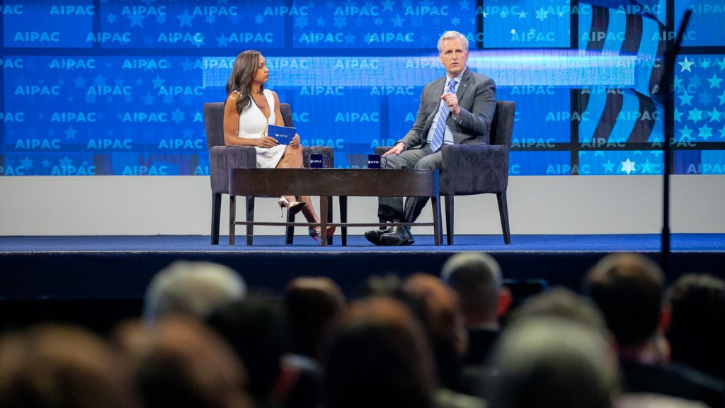 Leader McCarthy at the 2019 AIPAC Policy Conference.
