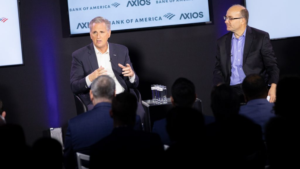 Kevin McCarthy at Axios